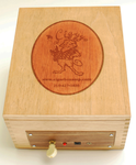 CigarBox/Audio Player/Lemon Finish/Logo has Cherry Finish